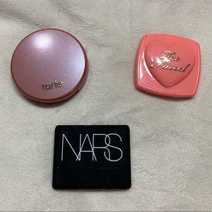 NARS Tarte Too Faced Blush Makeup Lot
